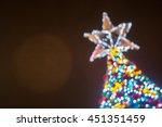 Bokeh Lights On Christmas Tree