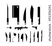 vector weapons symbol set | Shutterstock .eps vector #451356241