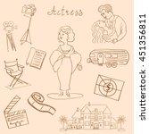 hand drawn actress. celebrity... | Shutterstock .eps vector #451356811