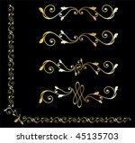 golden decorative design... | Shutterstock .eps vector #45135703