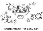 sukiyaki hot pot with... | Shutterstock .eps vector #451357534