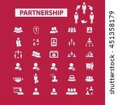 partnership icons | Shutterstock .eps vector #451358179