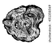 hand drawn illustration of wood ... | Shutterstock .eps vector #451358569