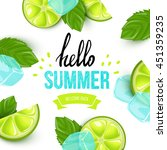 summer colorful poster. vector... | Shutterstock .eps vector #451359235