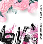 cosmetics and fashion... | Shutterstock .eps vector #451359871