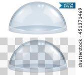 bell glass isolated on white... | Shutterstock .eps vector #451371469