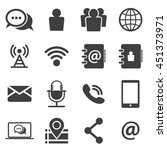 contact icon set | Shutterstock .eps vector #451373971