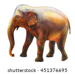 elephant moving drawing ... | Shutterstock . vector #451376695
