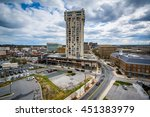 view of buildings in towson ... | Shutterstock . vector #451383979