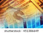 us dollars. macro image. | Shutterstock . vector #451386649