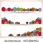 set of horizontal banners with... | Shutterstock .eps vector #451386961