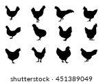 silhouette of chicken. farm.... | Shutterstock .eps vector #451389049