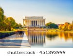 Lincoln Memorial And Pool In...