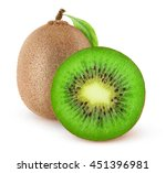 isolated kiwi fruits. cut kiwi... | Shutterstock . vector #451396981