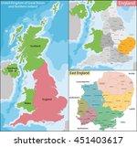 map of east england | Shutterstock .eps vector #451403617