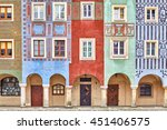 colorful houses on poznan old... | Shutterstock . vector #451406575