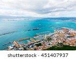 aerial view of gibraltar taken... | Shutterstock . vector #451407937