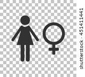 female sign illustration. dark...