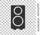 speaker sign illustration. dark ...