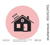 house and rain icon   Shutterstock .eps vector #451411951