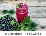 healthy smoothie from fruits... | Shutterstock . vector #451412455
