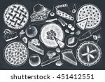 vector collection of ink hand... | Shutterstock .eps vector #451412551