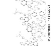 structure molecule and... | Shutterstock .eps vector #451412725