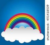 rainbow on sky rainbow