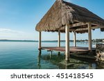 Pavilion With Thatched Roof At...