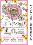 tea party invitation  template...   Shutterstock .eps vector #451419775