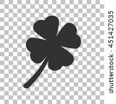leaf clover sign. dark gray...