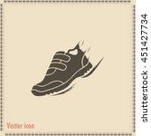 running shoe icon | Shutterstock .eps vector #451427734