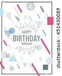 vector illustration geometric... | Shutterstock .eps vector #451430089