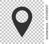 mark pointer sign. dark gray... | Shutterstock . vector #451430347