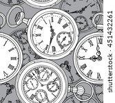 multilayer seamless pattern.... | Shutterstock .eps vector #451432261