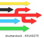 colour arrows on a white... | Shutterstock . vector #45143275