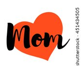 Mother Day Card. I Love You Mom