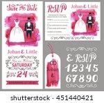 wedding invitation card set... | Shutterstock .eps vector #451440421