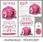wedding invitation card set... | Shutterstock .eps vector #451441369