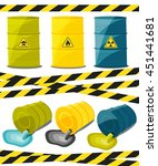 containers with explosive and... | Shutterstock .eps vector #451441681