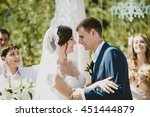 wedding in beautiful warm sunny ... | Shutterstock . vector #451444879