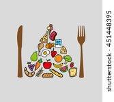 food nature healthy vegetables... | Shutterstock .eps vector #451448395