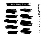 collection of black ink hand... | Shutterstock .eps vector #451457371