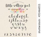 hand drawn modern calligraphy... | Shutterstock .eps vector #451466011