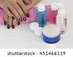hands girl with beautiful... | Shutterstock . vector #451466119