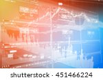 stock market concept and... | Shutterstock . vector #451466224