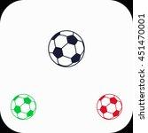 football illustration set. blue ...   Shutterstock .eps vector #451470001