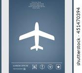 plane icon | Shutterstock .eps vector #451470394