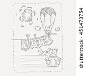 doodle page for kids and... | Shutterstock . vector #451473754