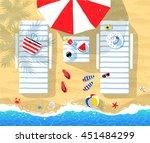 summer vector illustration of... | Shutterstock .eps vector #451484299